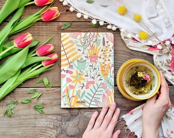 Eco notebook with garden  illustration