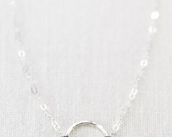 Hakumele necklace - sterling silver eternity necklace, circle necklace, delicate silver necklace, bridesmaid gift, maui, hawaii wedding gift