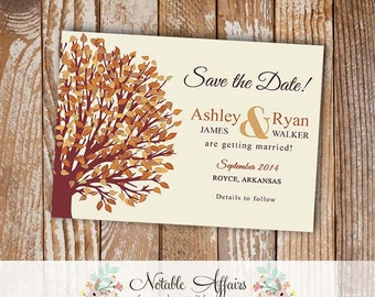 Save the date - Autumn Fall tree Save the Date card - choose your wording