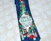 "Christmas Tie 100% Silk Vintage Men's Necktie TABASCO Sauce Necktie For Your ""hot"" Santa"
