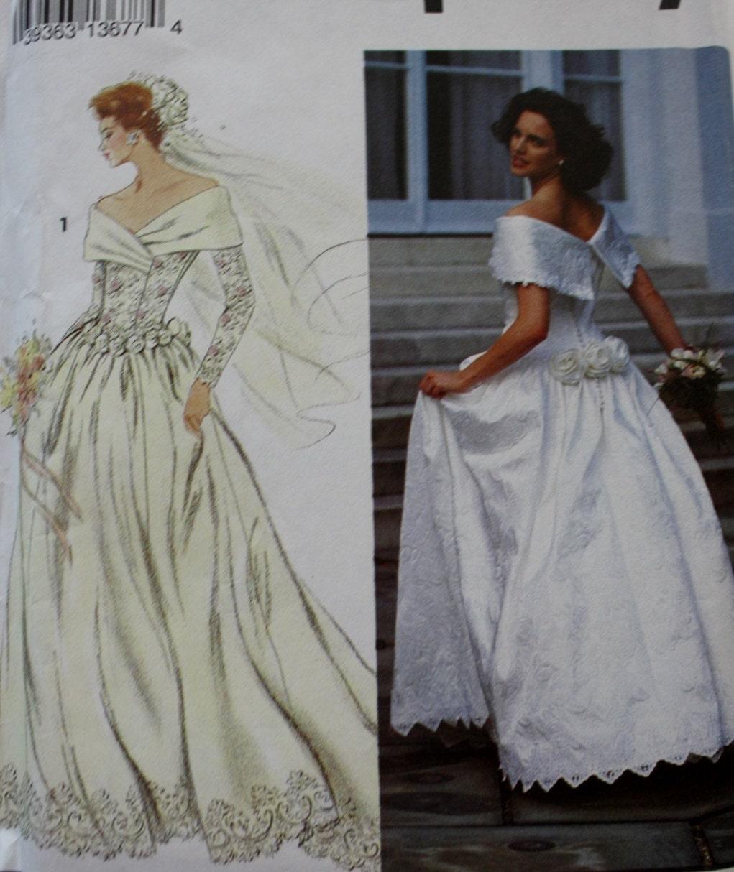 Bodice Wedding Gown: Wedding Dress /Princess Seamed Bodice/Bridal Gown/ Simplicity