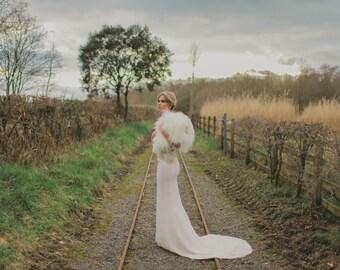 Mirth - Bohemian Luxe Antique Gold Silk Wedding Dress