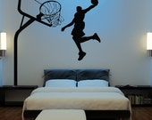 HUGE Basketball Wall Decal Decor Art Stickers Michael Jordan Boys Room