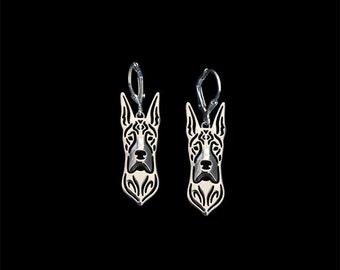 Great dane earrings - Sterling silver