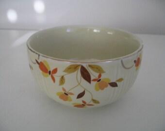 Vintage Halls Jewel Tea Mixing/Serving Bowl In Autumn Leaf Pattern