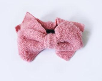 SALE 50% OFF Pale Pink Hair Bows Banana Comb Clip Barrette