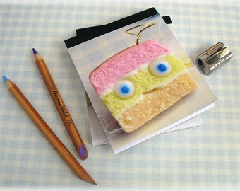 Angel Cake Notepad Pocket Sized Notebook Handy Tablet Jotter Pink Yellow