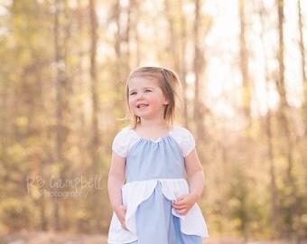 Cinderella Ball Gown - Cinderella Costume - Cinderella Blue Dress - CInderella Princess Dress - Cotton Cinderella Dress -Cotton Cinderella