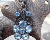 Blue Flower Dangling Earrings