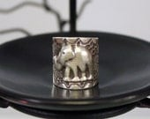 Energetic Elephant Sterling Silver Ring