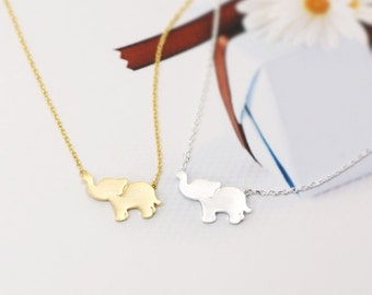 Elephant Necklace, Elephant Jewelry