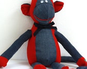 Personalized Memory Monkey Custom Stuffed Monkey Memory Animal Stuffed Animal Personalized Baby Keepsake Bereavement Gift