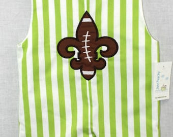 Baby Football Outfit - Baby Boy Clothes - Baby Boy Football - Baby Boy Football Outfit - Mardi Gras Clothing - Baby Bubble Romper 291944