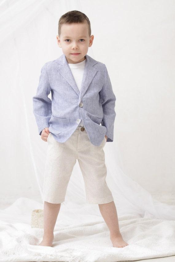 Boys Clothing Boys Linen Blazer Toddler Boy Jacket Boys