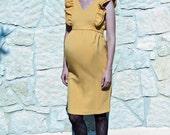 Mustard Maternity Dress