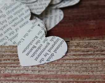 500 - Paper Heart Confetti, Book Page Confetti, Book Confetti, Paper Confetti, Confetti, Wedding Confetti, Heart Confetti, Vintage Confetti