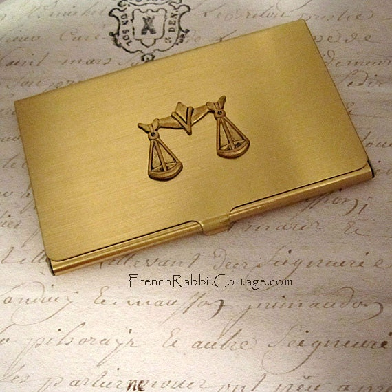 ATTORNEY GIFT LAWYER Business Card Case. Law School Graduate