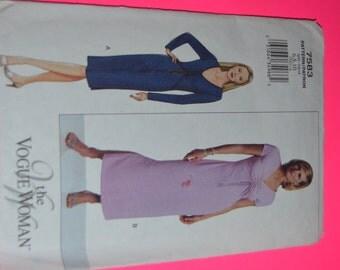 Vogue 7583 Misses Dress Sewing Pattern - UNCUT - Sizes 6 8 10