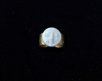 RARE Moon Face Ring