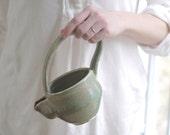 handmade serving pitcher