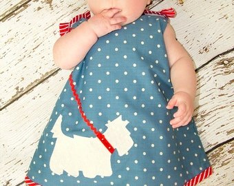 Baby Sewing Pattern pdf, Baby Dress Pattern, Childrens Sewing Pattern, Baby Clothing Pattern, Toddler Infant Newborn Pattern, SCOTTIE