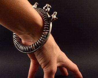 Unusual vintage bracelet from India, ethnic tribal jewelry, animal bracelet, india bracelet, ethnic bracelet