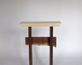 Accent Table: artistic small table for entry table/ side table/ display table- Handmade Wood Furniture- STATEMENT COLLECTION