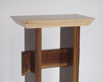 Small Narrow Table: Custom Furniture- wood entry table, small occasional tables, narrow side table- STATEMENT COLLECTION