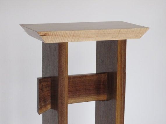 Small narrow table custom furniture wood entry table small - Small side tables for small spaces minimalist ...