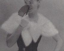 Cloud Cape • 1950s Knit Wedding Stole Wrap Pattern • Vintage 50s Knitting Bolero Shrug Patterns • Retro Fleisher Yarns • PDF File