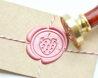 B20 Wax Seal Stamp Fruit Strawberry