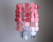 Circle Dot Chandelier Mobile - Pink/Coral, White and Gray // Nursery Mobile // Choose Your Colors
