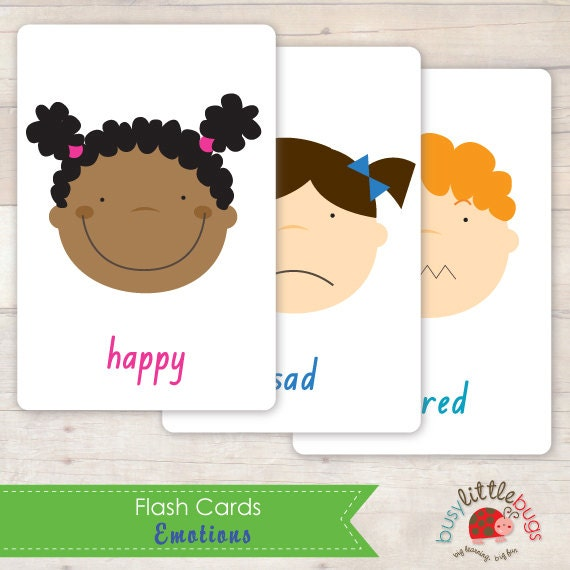 Emotions Flash Cards AUTOMATIC DOWNLOAD by BUSYLITTLEBUGSshop