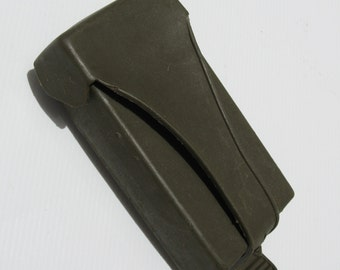 Vintage European Green Thick Plastic Army Bullet Case Cell iPhone Smart Phone Wallet Case Cover Holder Pouch