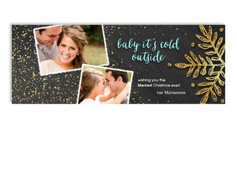 Christmas Facebook Timeline Cover Template - Baby It's Cold Outside - 1187