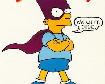 Bartman Avenger of Evil Mini Poster