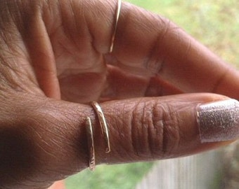 Gold Thumb Ring Gold Hammered Ring Adjustable Ring 14K Gold Filled Ring UK Shop  Mothers Day Gift Birthday Gift