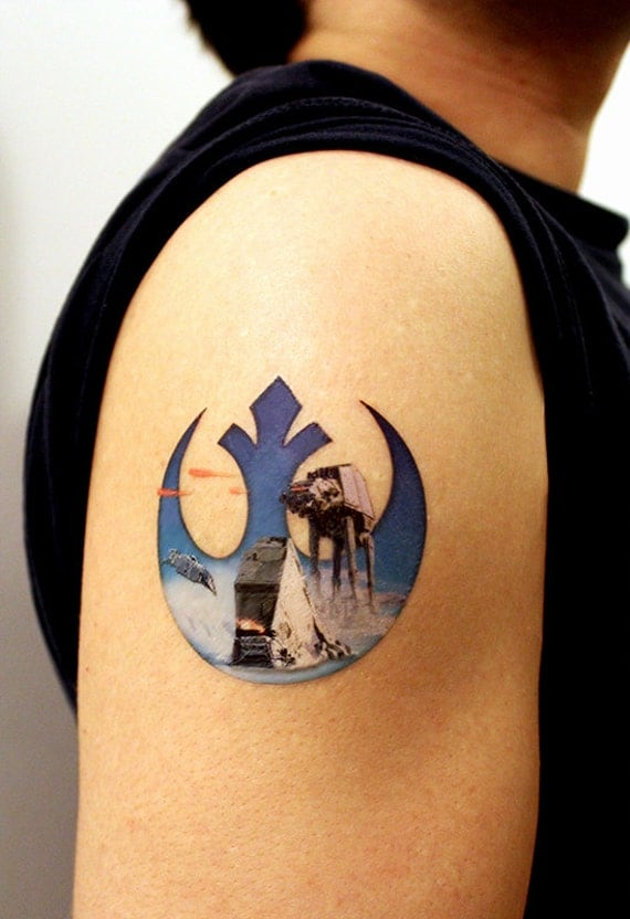 rebel alliance star wars large temporary tattoo really