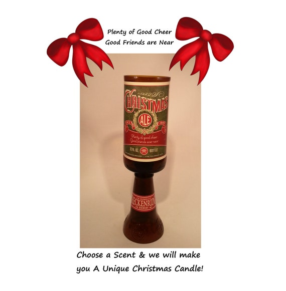 Christmas Ale Beer Bottle Candle