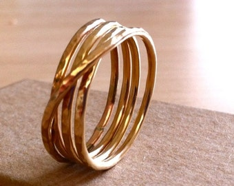 Unique Gold Ring, Wrap Ring, 14k Gold Ring For Women, Unisex Ring, Handmade Ring, Gifts For Mom, Christmas Gifts For Mom, Christmas Presents