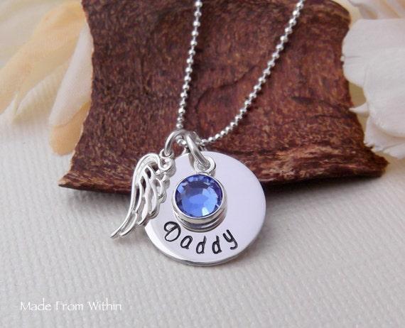 Memorial Necklace- Remembrance Necklace- Memorial Jewelry- Angel Wing Necklace- Remembrance Jewelry