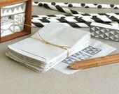 """50 Tiny White Paper Bags - flat favor bags / envelopes - Made of thin recycled paper - 2 1/2""""x3 1/2"""""""