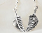 Antique Silver Leaf Earrings - Add seed bead color of your choice