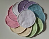 "Reusable Nursing Pads, 4"" 6 pairs (12 pads),Pastel Colors, Washable Breast Pads, Maternity, Post Partum Pads, Breastfeeding pads"