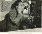 Korean boxer Joe Teken by telephone switchboard photo