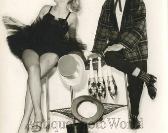 Rolfino and Lady comedy jugglers performers vintage circus photo