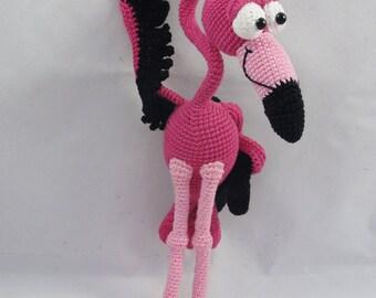 Amigurumi Crochet Pattern - Fernando el Flamenco