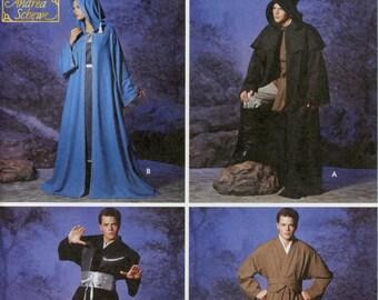 STAR Wars style Jedi Robe, Spock Star Trek Tunic, & Wizard or Elf Cloak Cosplay Costume Sewing Pattern; Simplicity 5840, Adult Teen, XS – XL