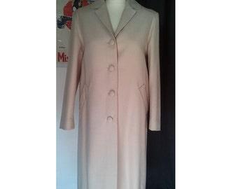 Pardessus manteau vintage 1950 crème beige S