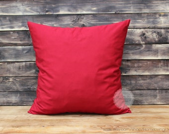 Decorative throw pillow Christmas pillow red pillow cover throw pillows red throw pillows cotton throw pillow cover red 12x18 inches pillows
